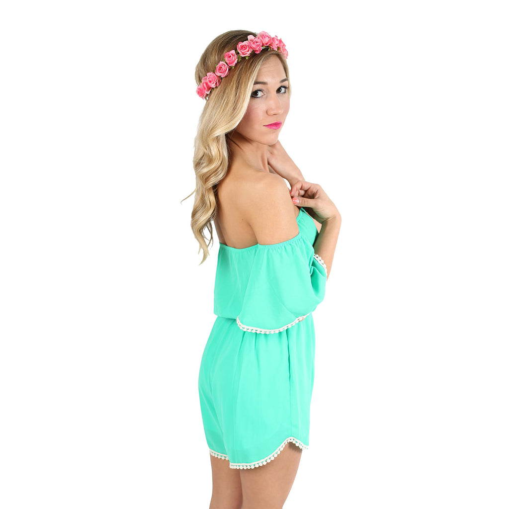 Dare To Dream Romper in Emerald