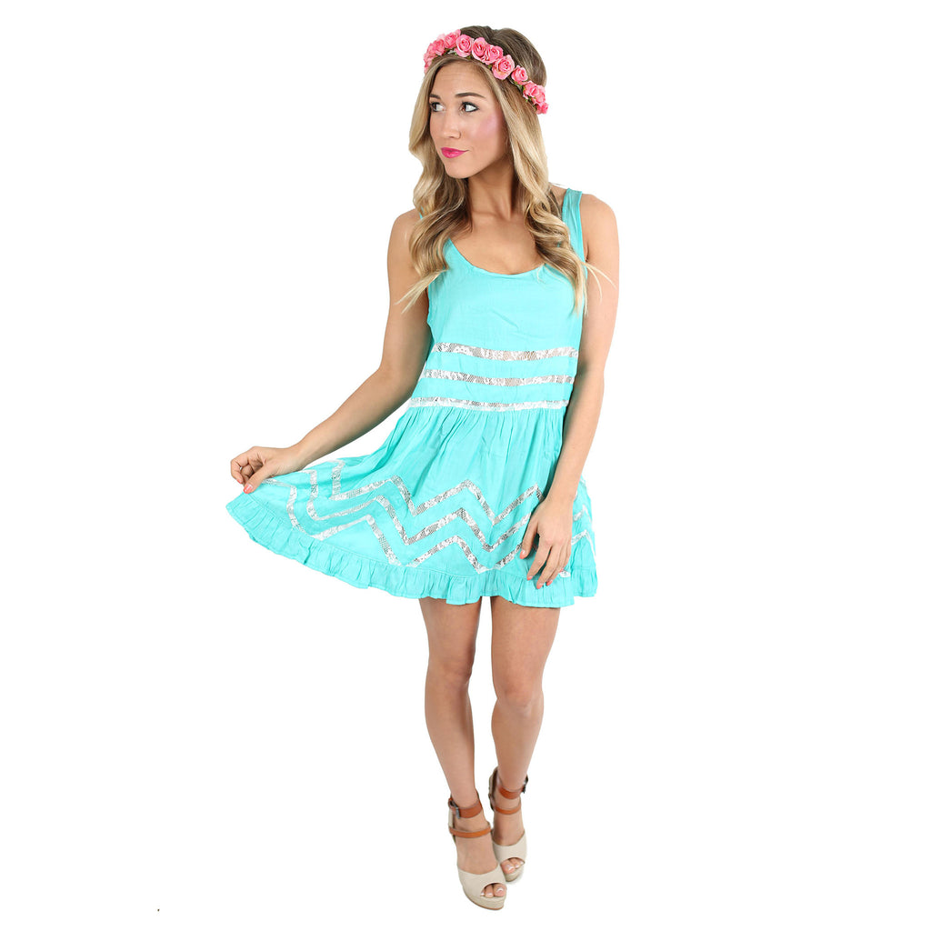 It's Up To Fate Dress in Aqua