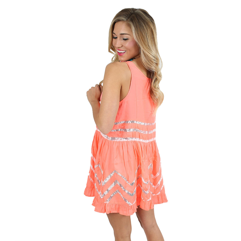It's Up To Fate Dress in Neon Coral