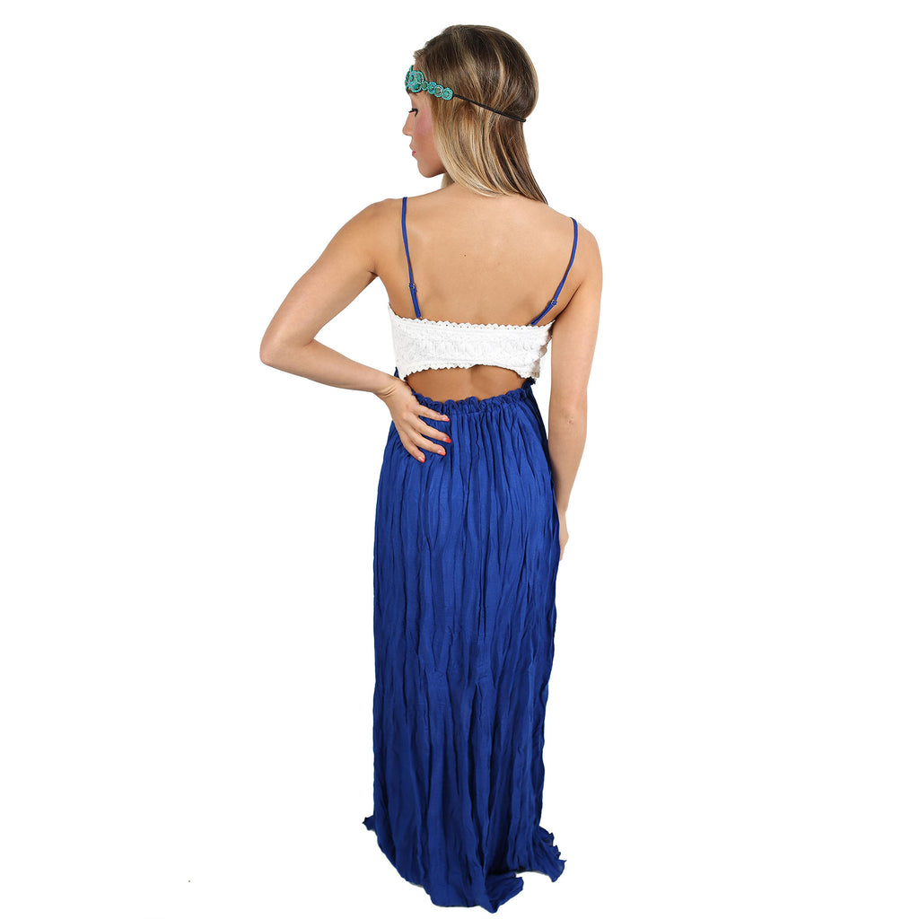 Sweetly Sunkissed Maxi in Royal Blue