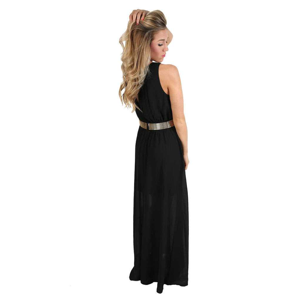 Summer Sunsets Maxi in Black
