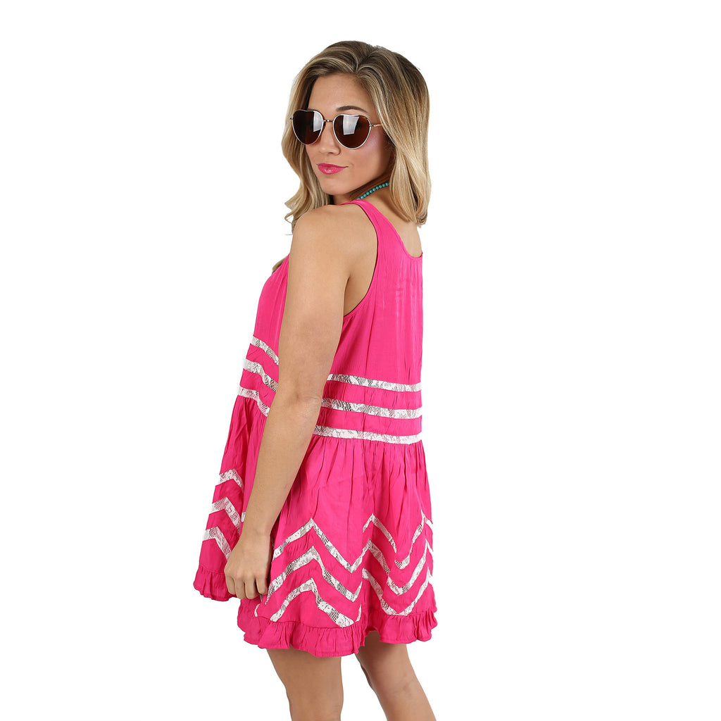 It's Up To Fate Dress in Fuchsia