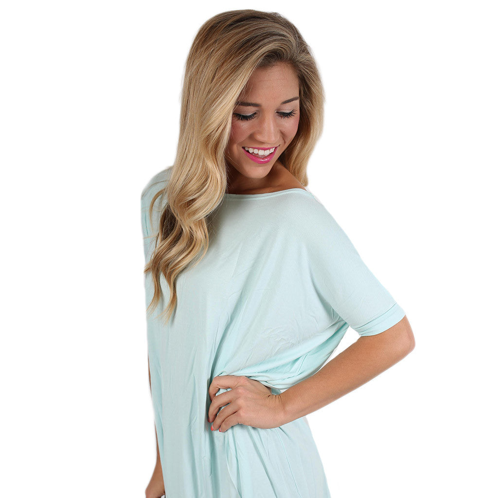 PIKO Short Sleeve Tunic in Mint
