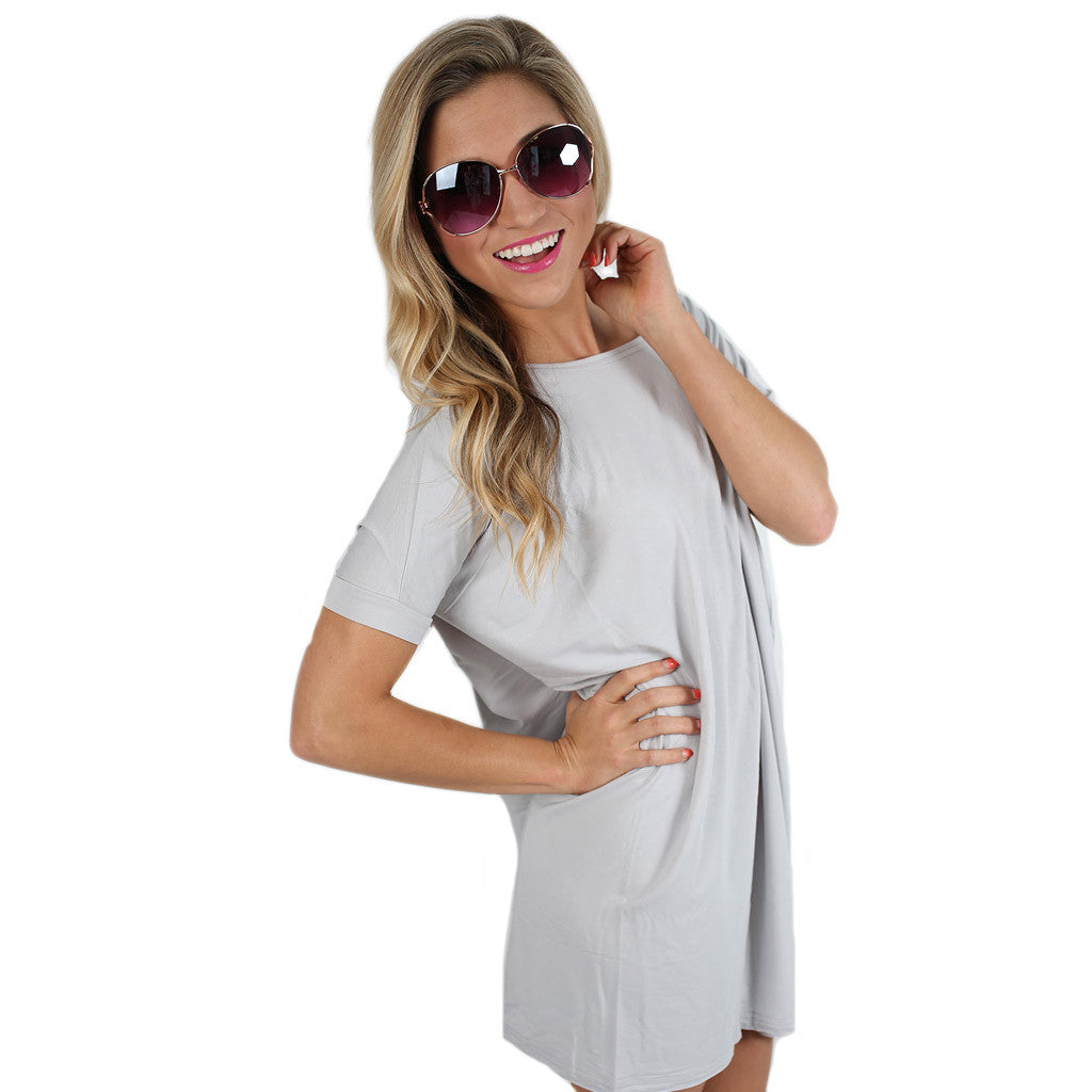 PIKO Short Sleeve Tunic in Silver