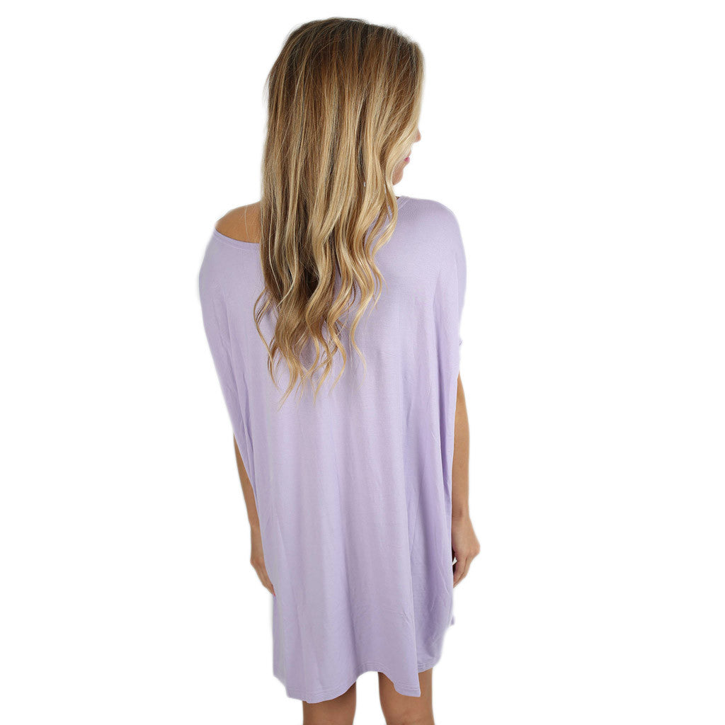 PIKO Short Sleeve Tunic in Light Purple
