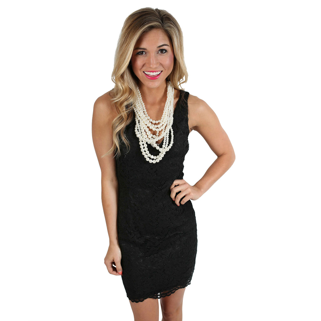 Front & Center Dress Black