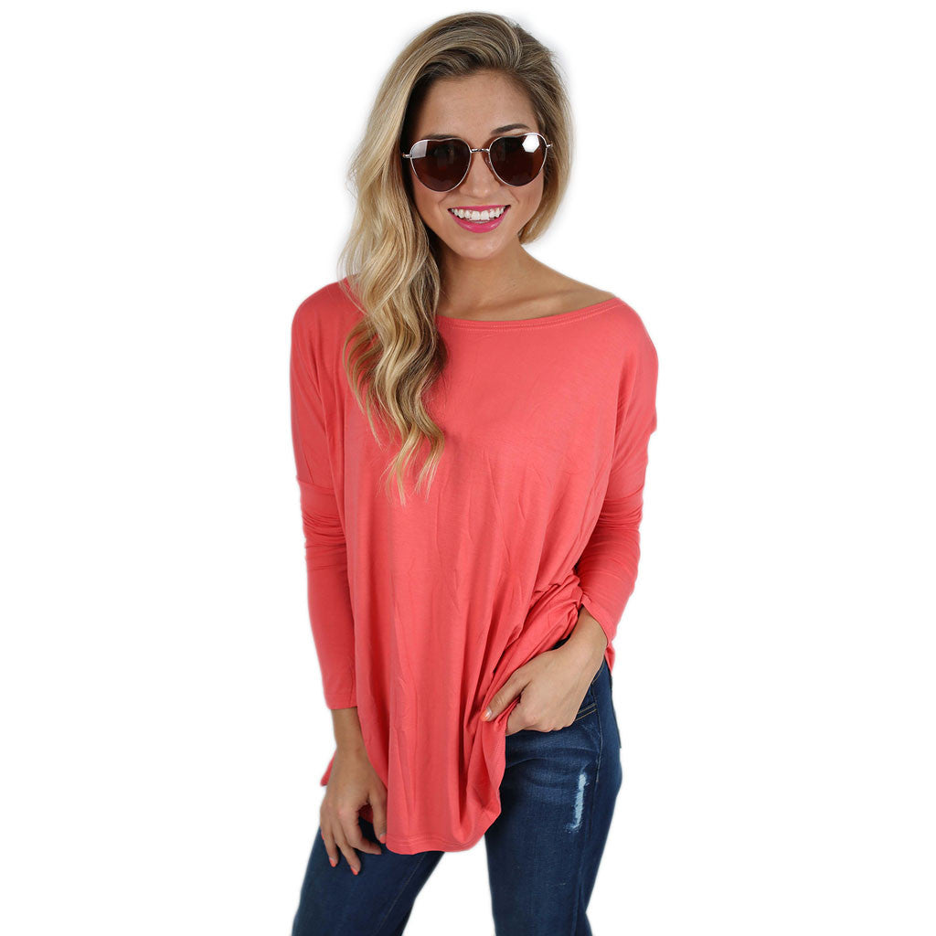 PIKO Tee in Dark Salmon