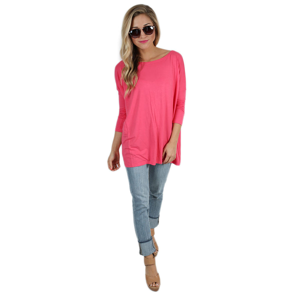 PIKO Tee in Hot Pink