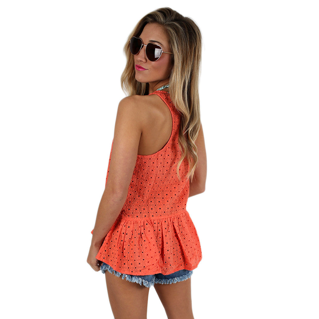 Little Miss Perfect Tank in Coral