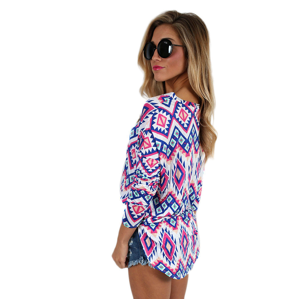 Summer Dream Tunic Blue/Pink