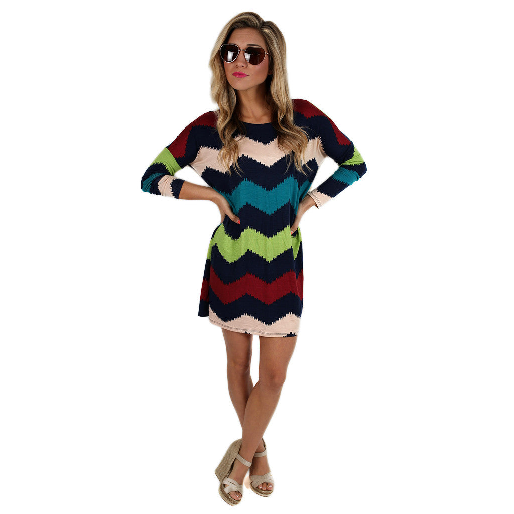 West Coast Dreaming Tunic Navy