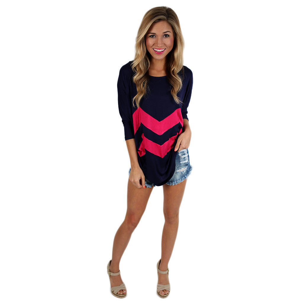 I Think This is Love Navy/Fuchsia