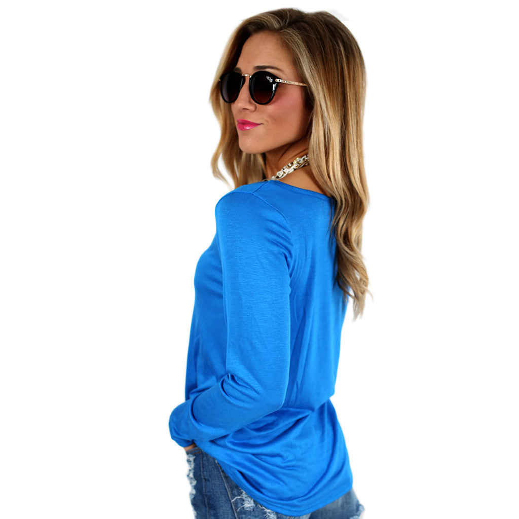 Graceful Tee in Blue