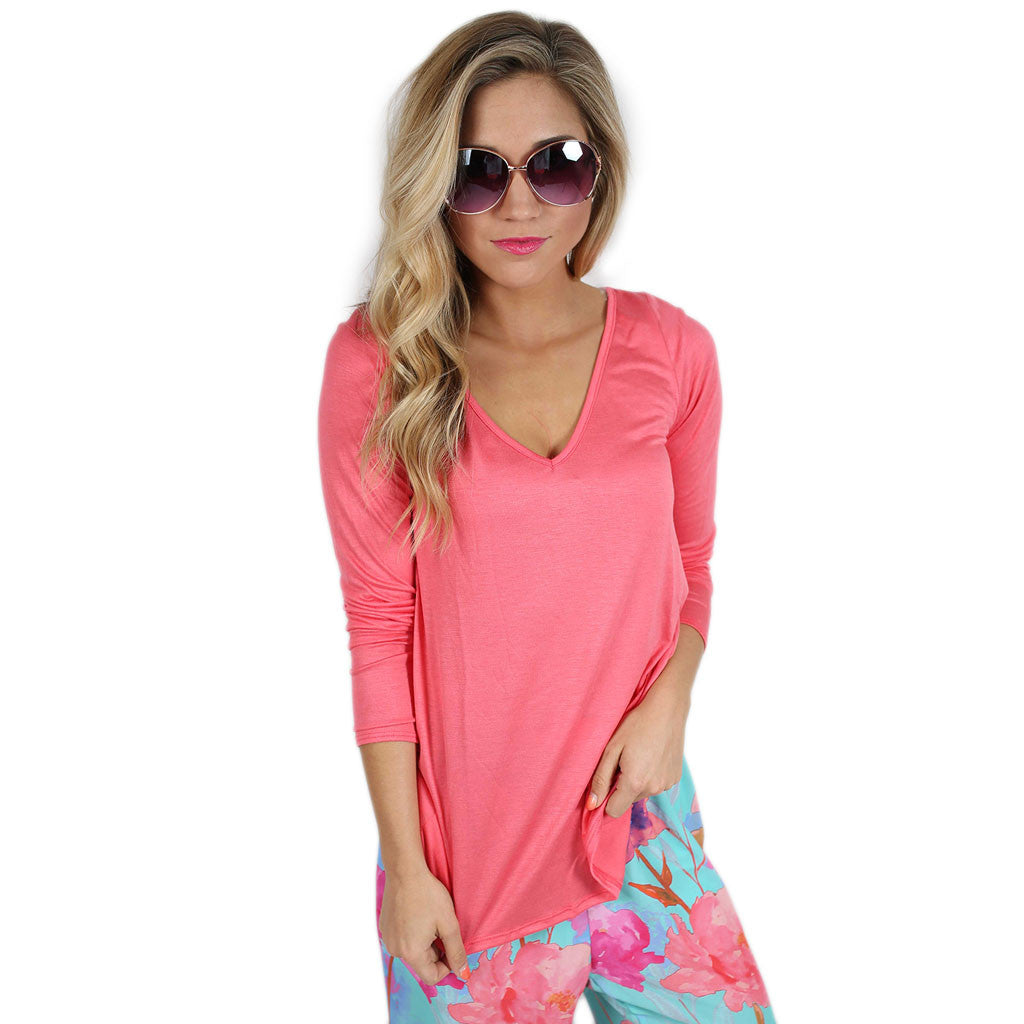 Graceful Tee in Coral