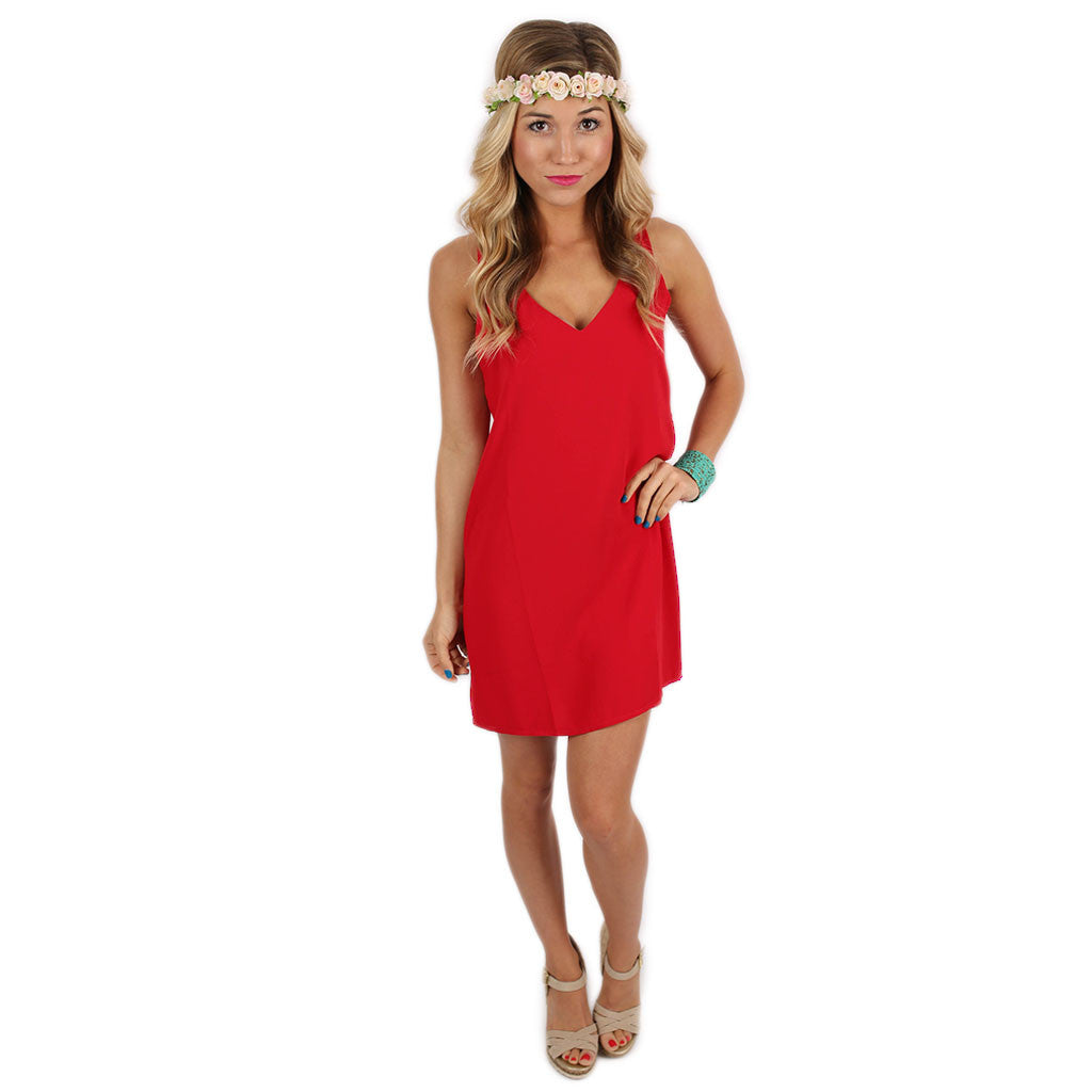 Sangria Sipping Dress in Red