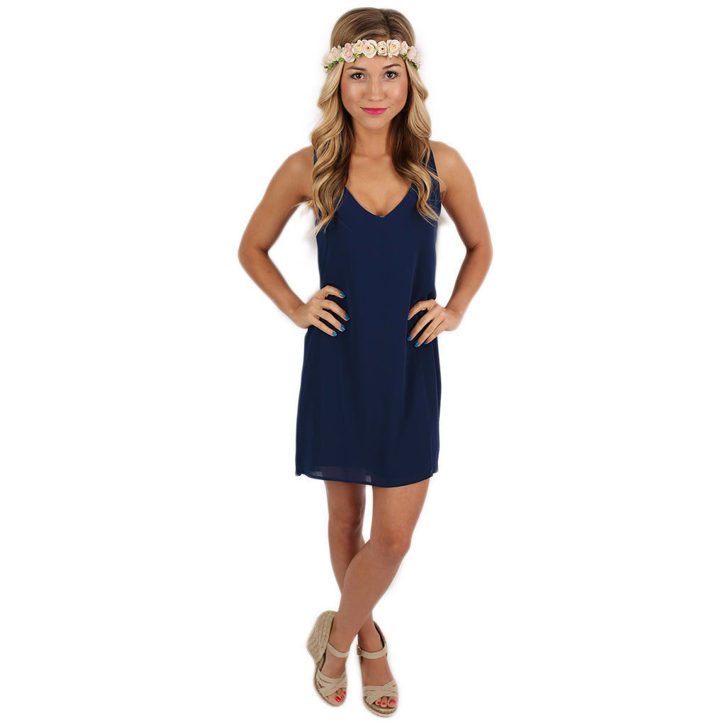Sangria Sipping Dress in Navy