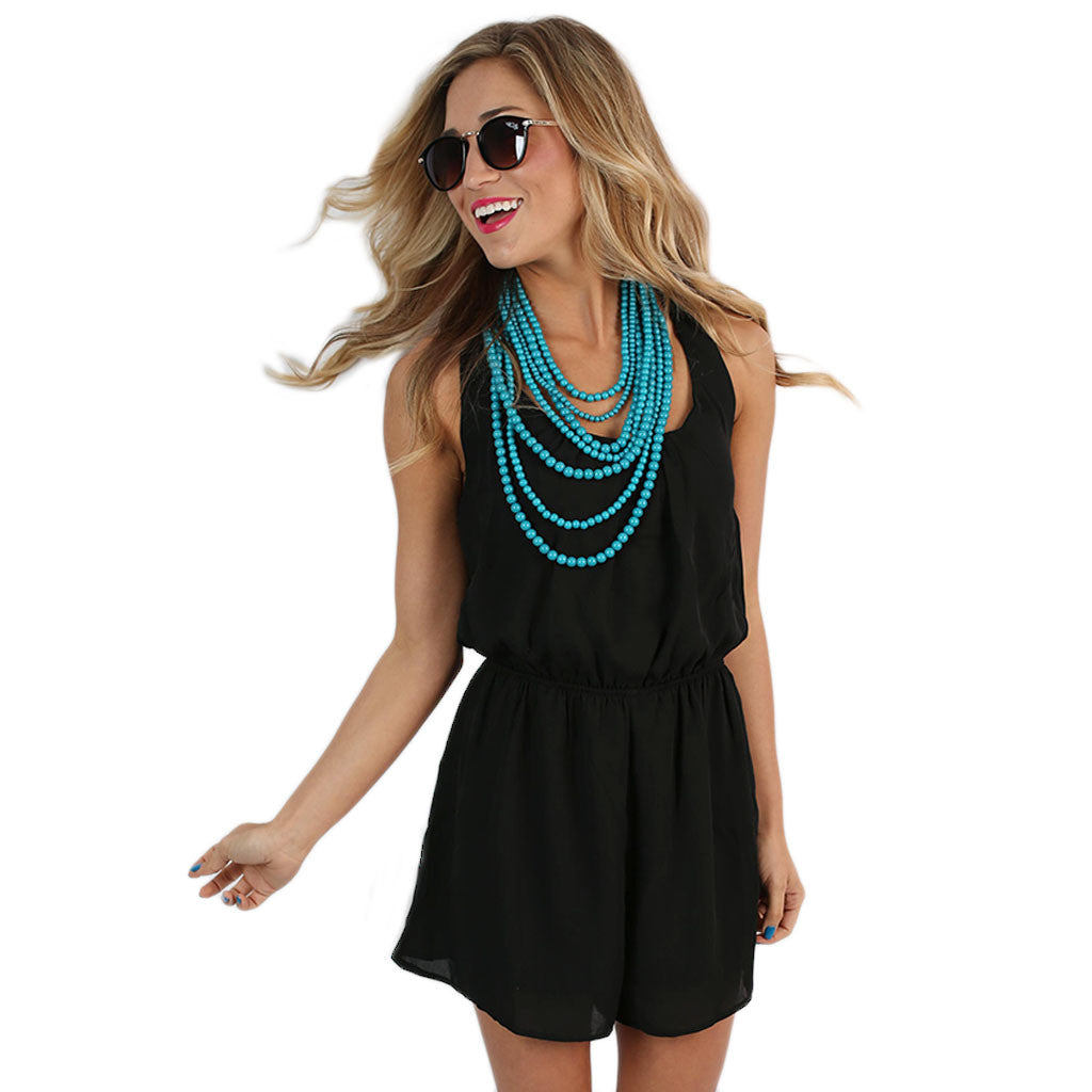Chiffon, Please Romper Black