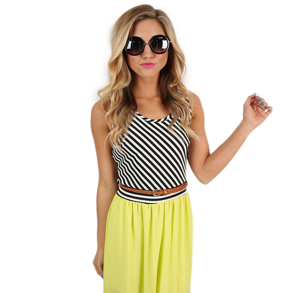 Sunset Stripes Maxi Lime