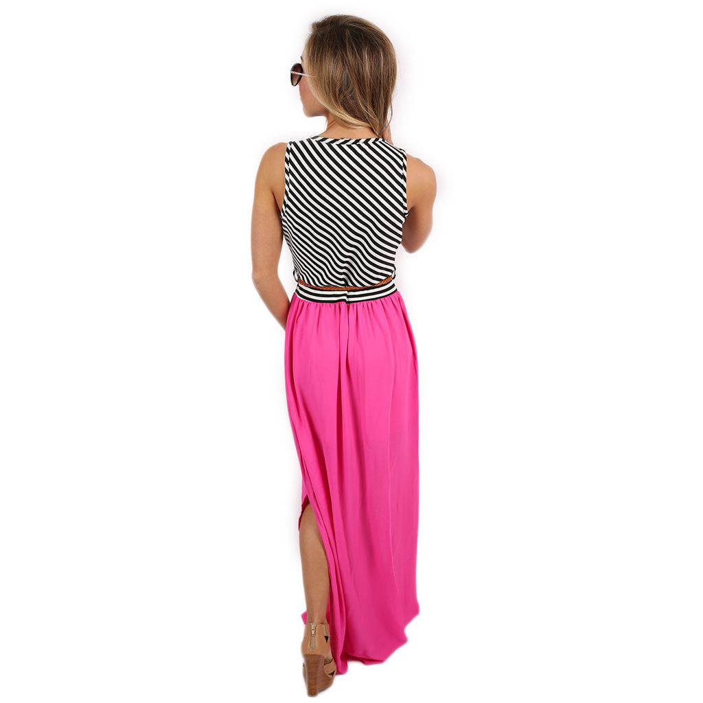 Sunset Stripes Maxi Fuchsia