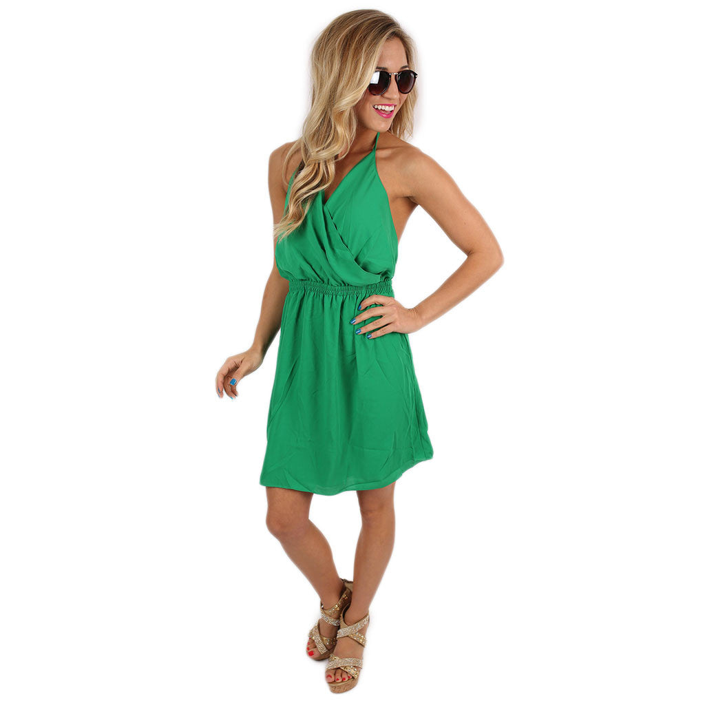 She's A Work Of Art Dress in Green