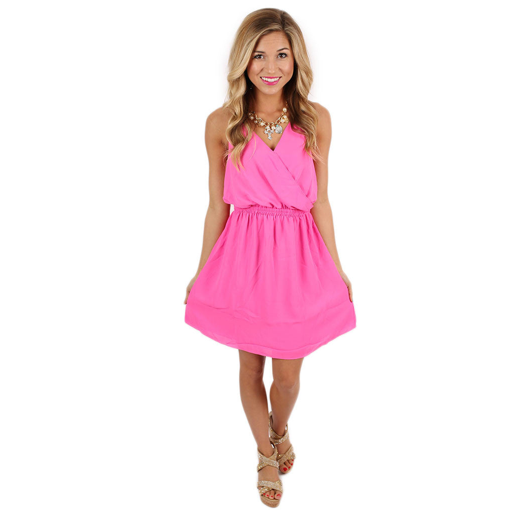 She's A Work Of Art Dress in Fuchsia