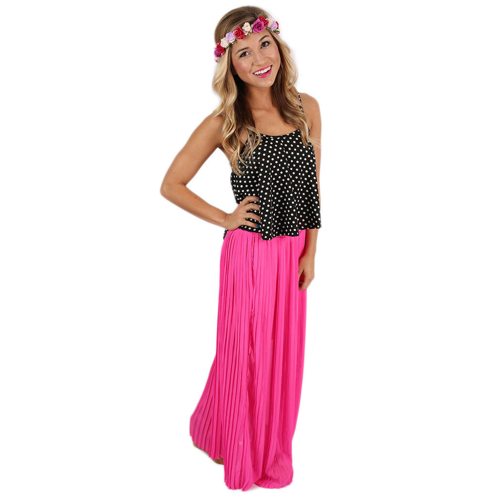 For the Twirl of It Maxi Skirt Hot Pink
