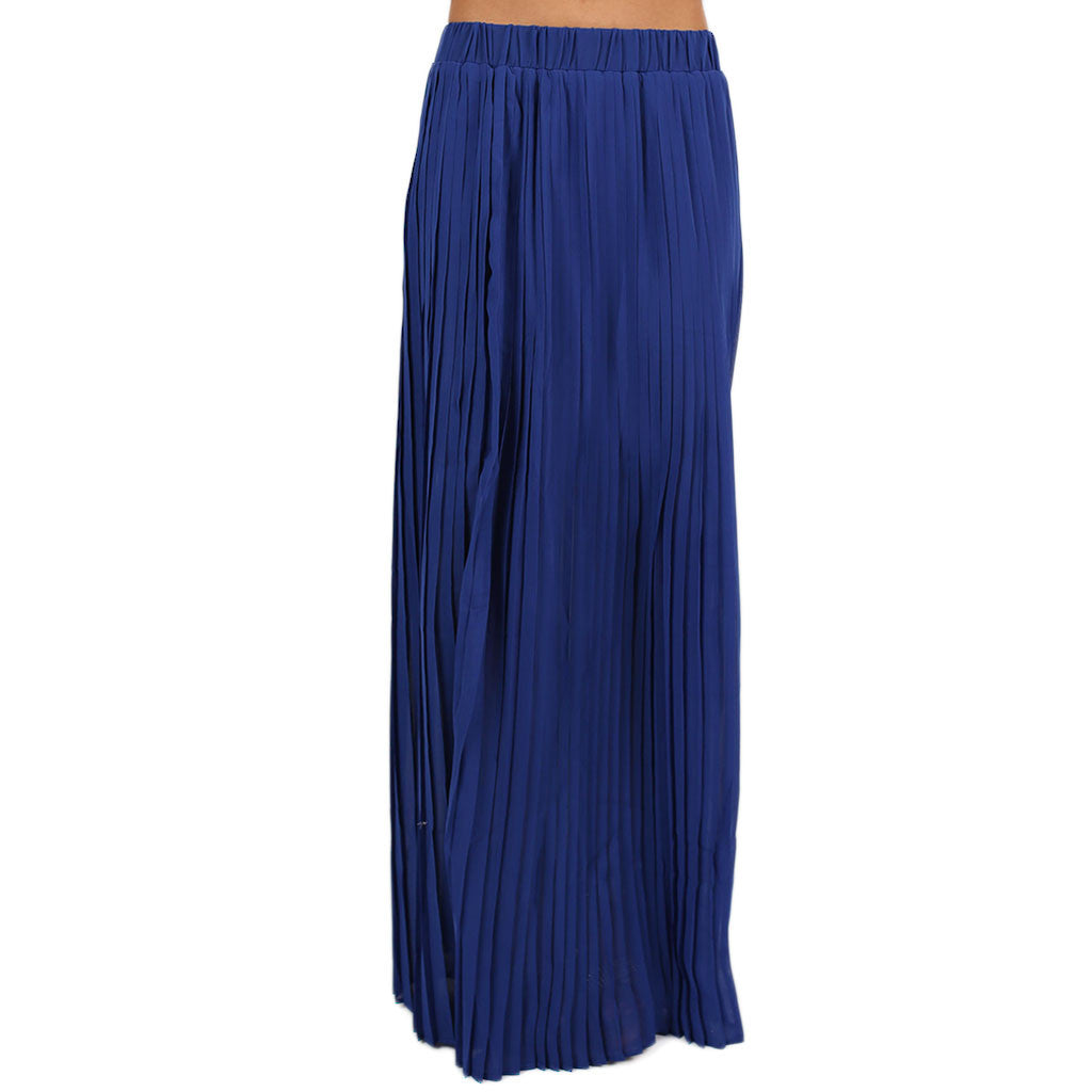 For the Twirl of It Maxi Skirt Royal Blue