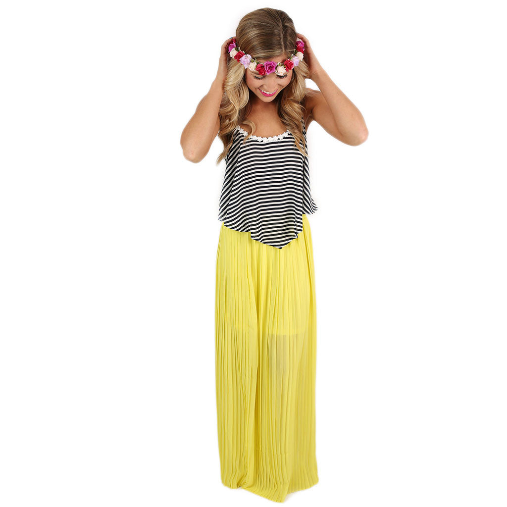 For the Twirl of It Maxi Skirt Yellow