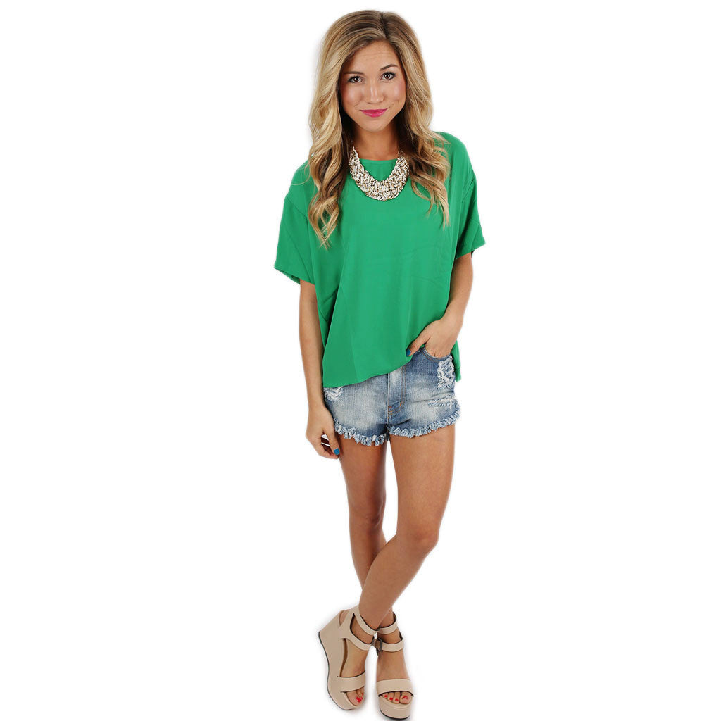 Let's Get Together Tee in Green