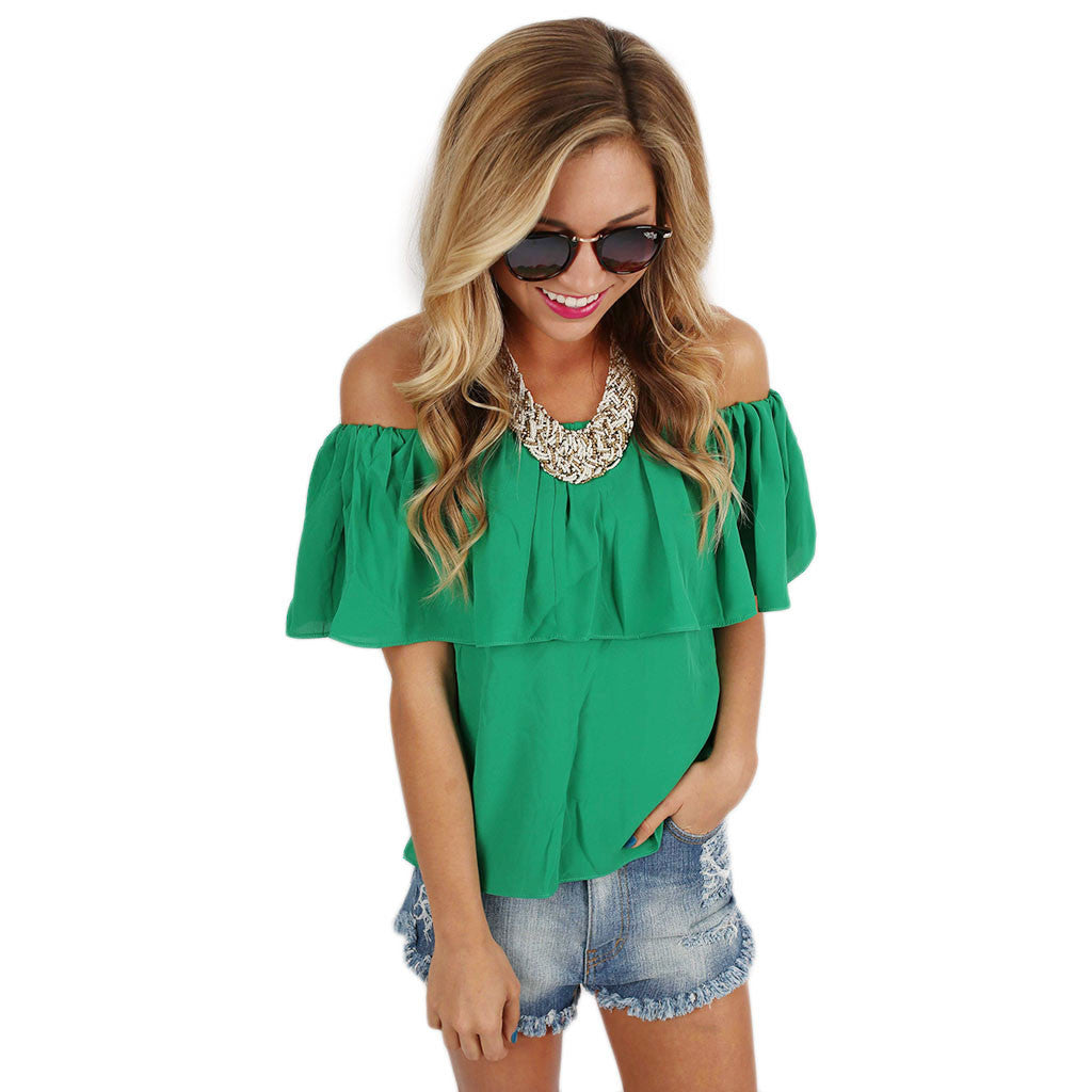 Island Hopping Top in Green