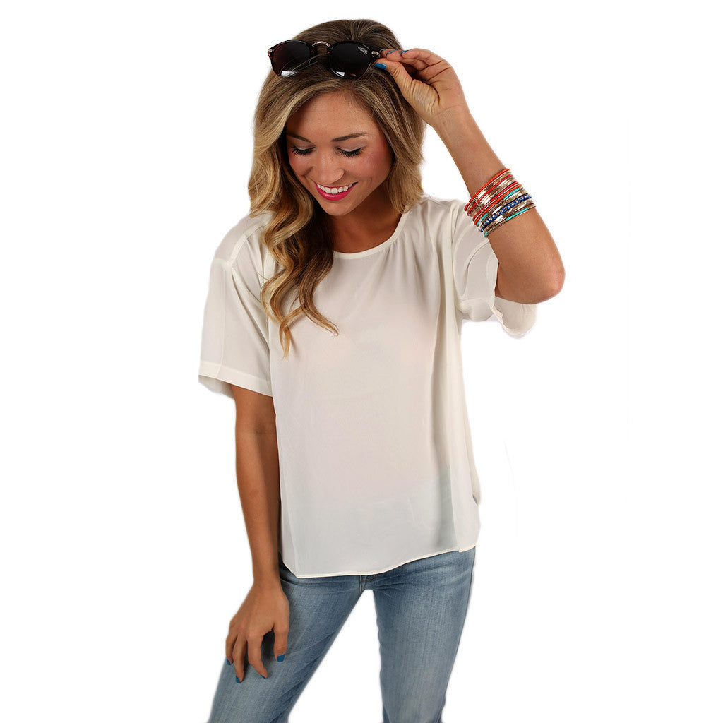 Let's Get Together Tee in Ivory