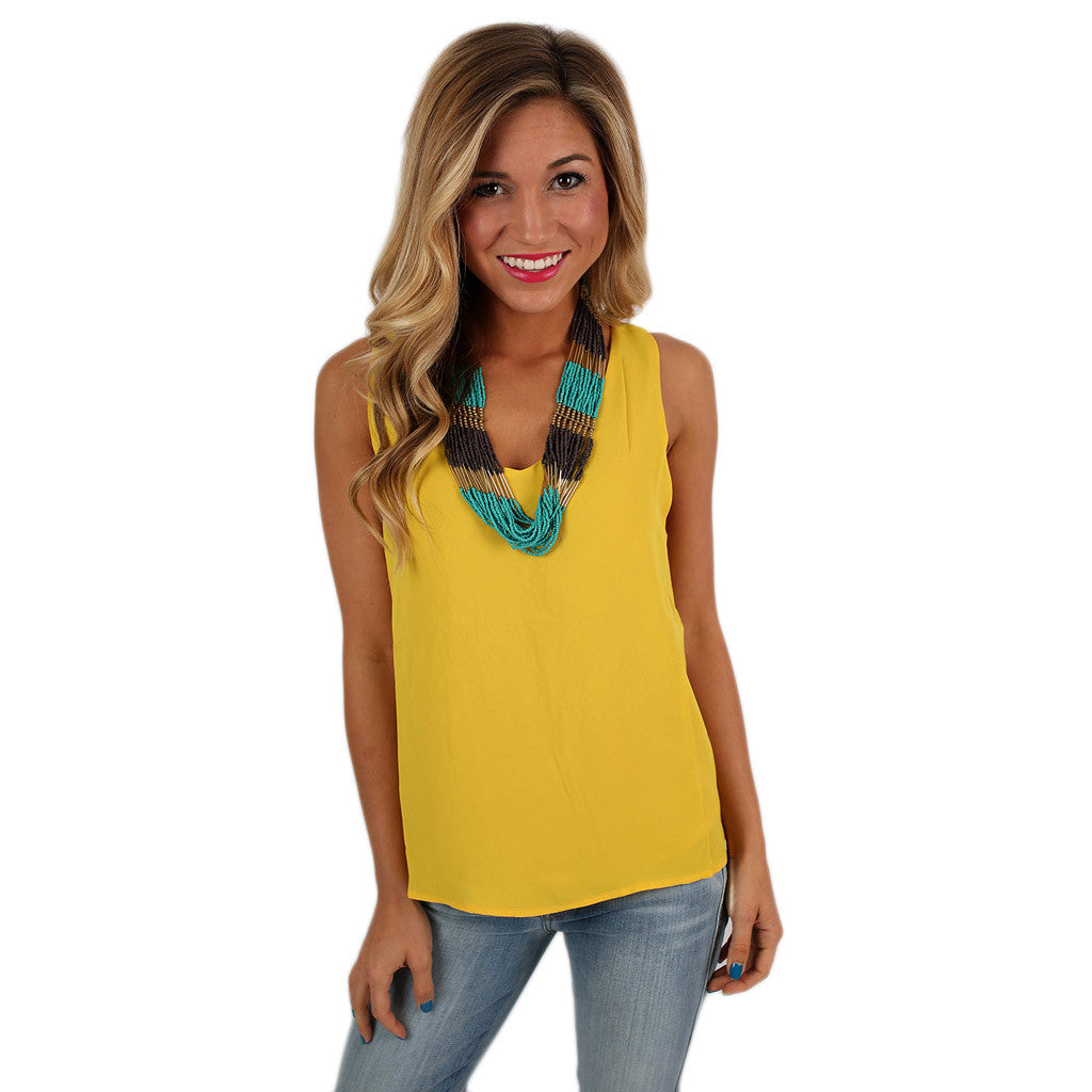 Hey, Good Looking Tank in Yellow