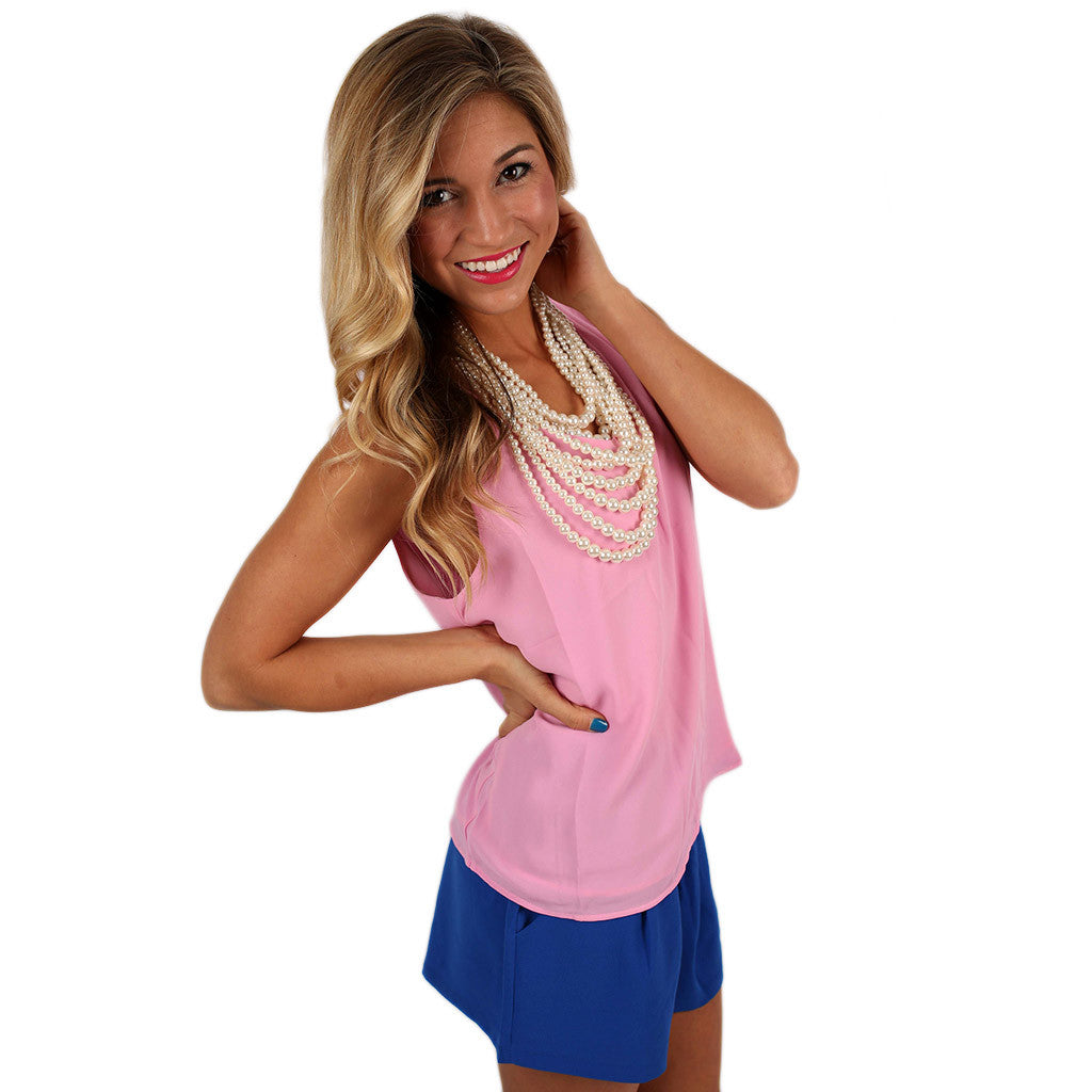 Hey, Good Looking Tank in Baby Pink