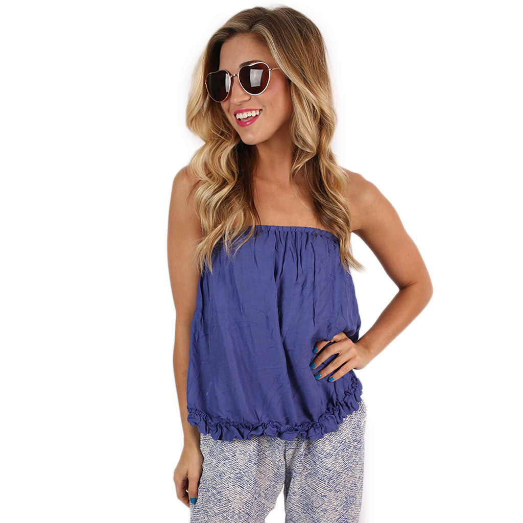 Smooth Sailing Crop in Violet