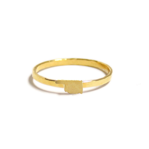 Kris Nations Oklahoma Ring Gold