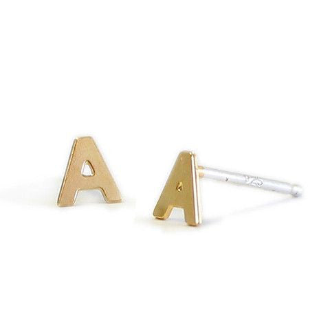 Kris Nations Letters Stud Earrings