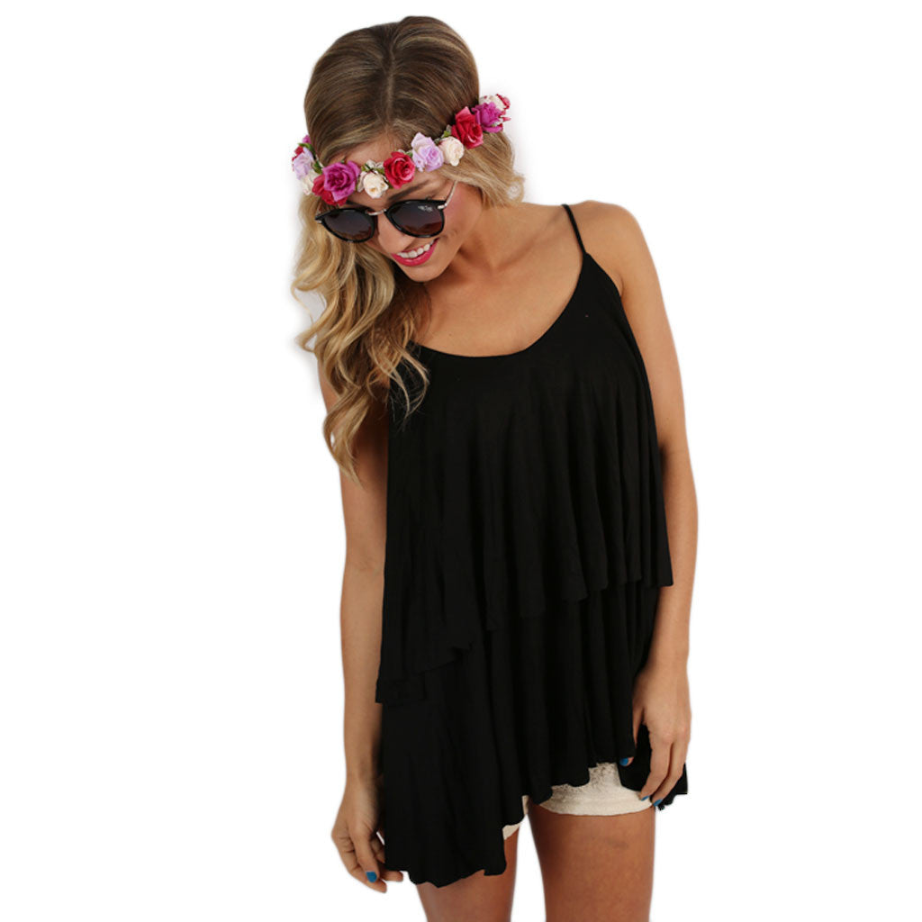 Layering Love Tank in Black