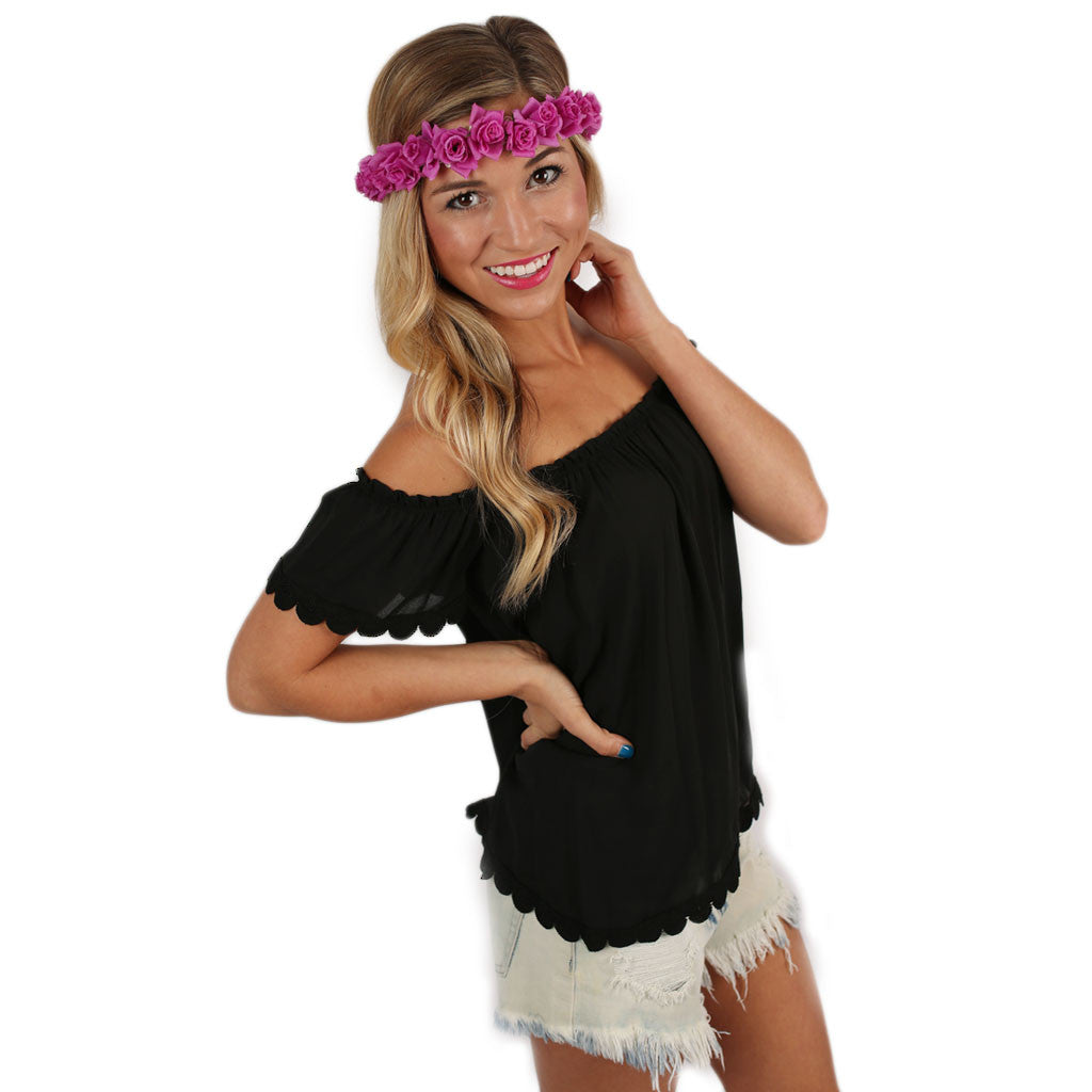 Southern Sweetheart Top in Black