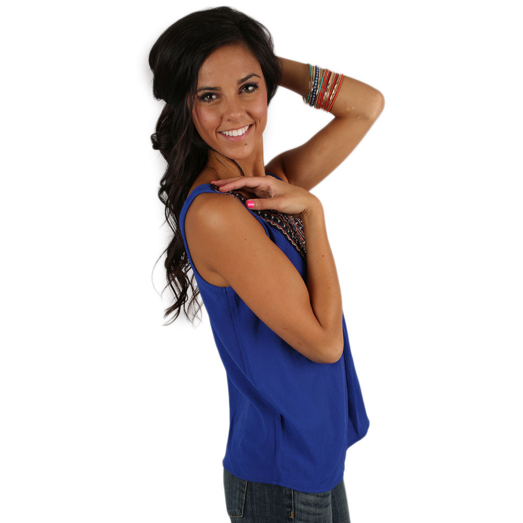 Tea Time Tank in Royal Blue