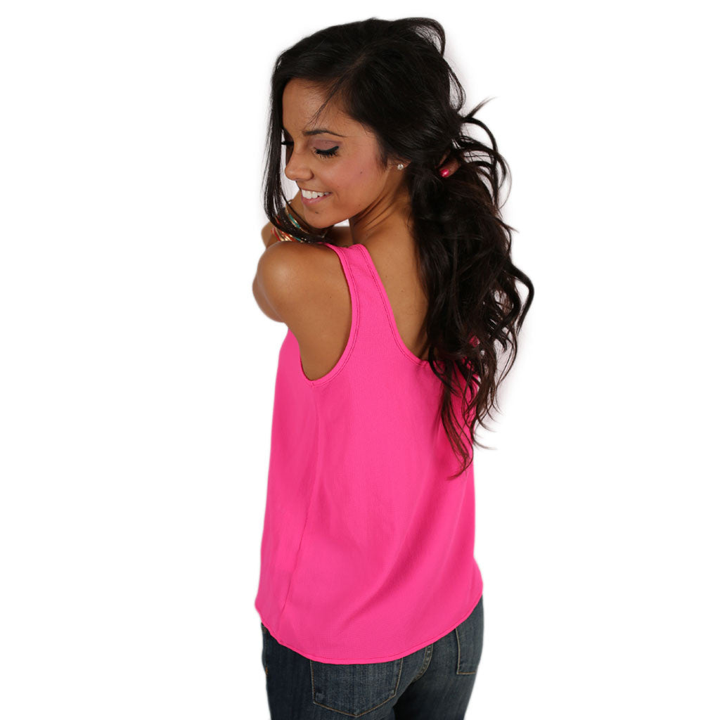 Tea Time Tank in Hot Pink