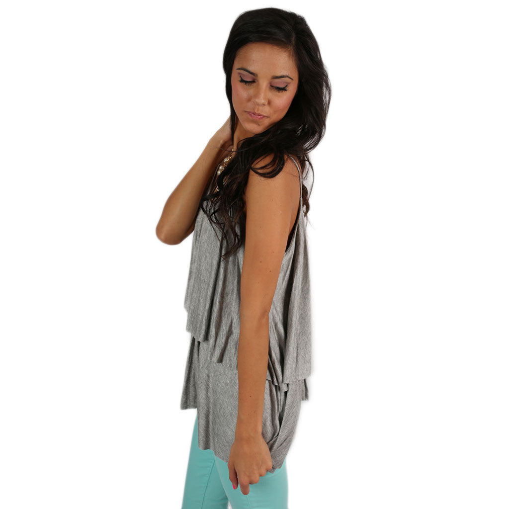 Layering Love Tank in Grey