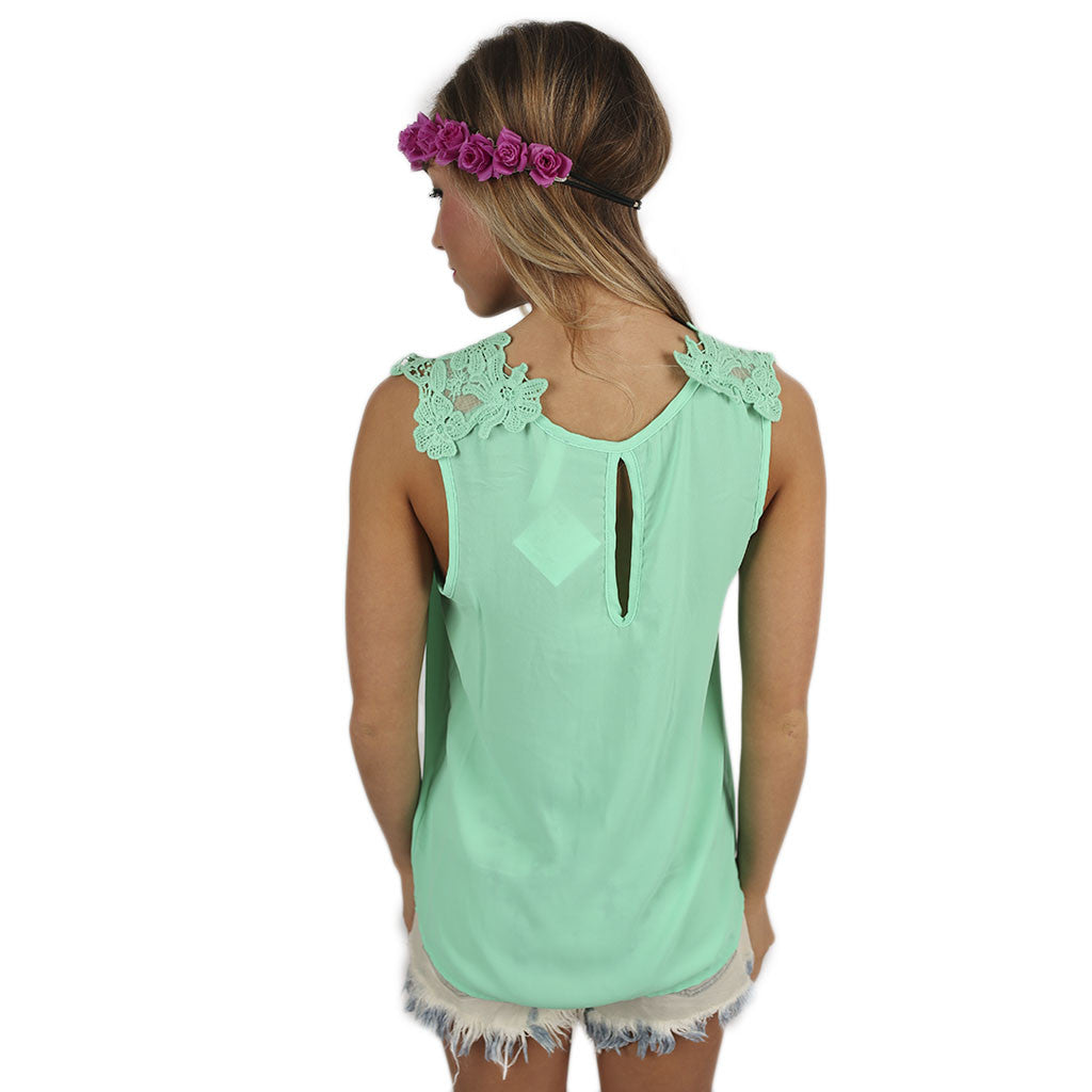 Hopeless Romantic Top in Mint