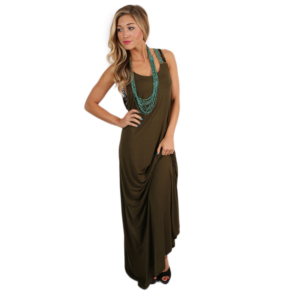 Keeping it Breezy Maxi Olive