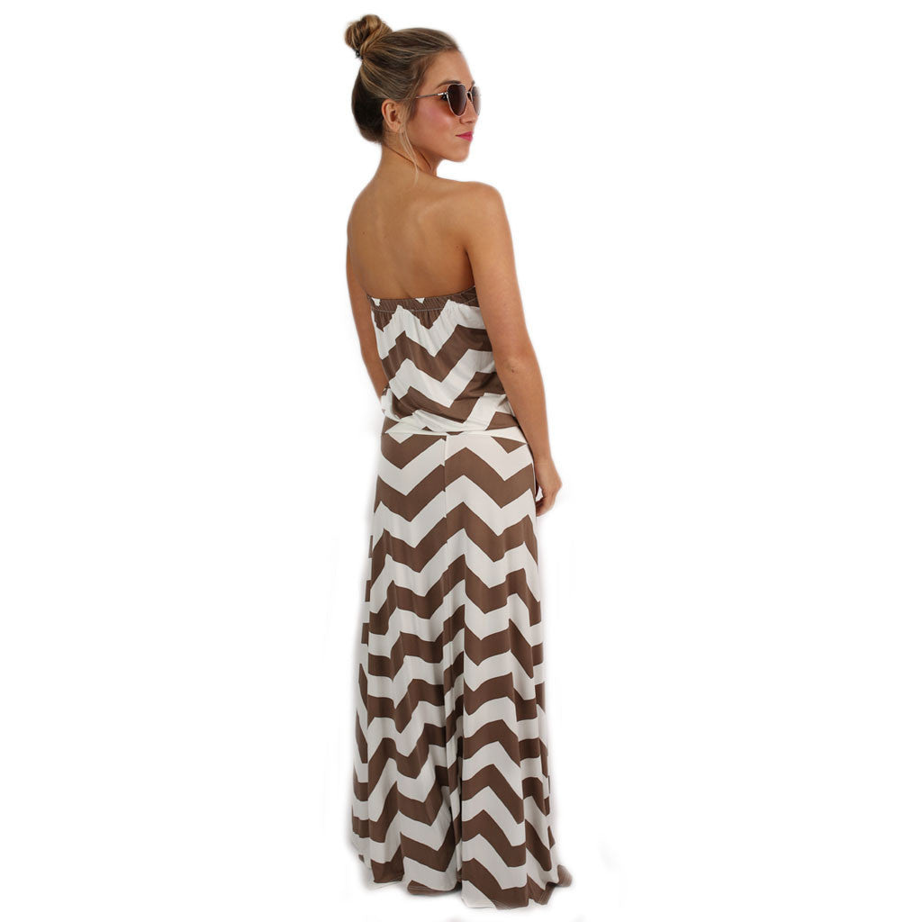 Sunshine Stripes Maxi in Mocha
