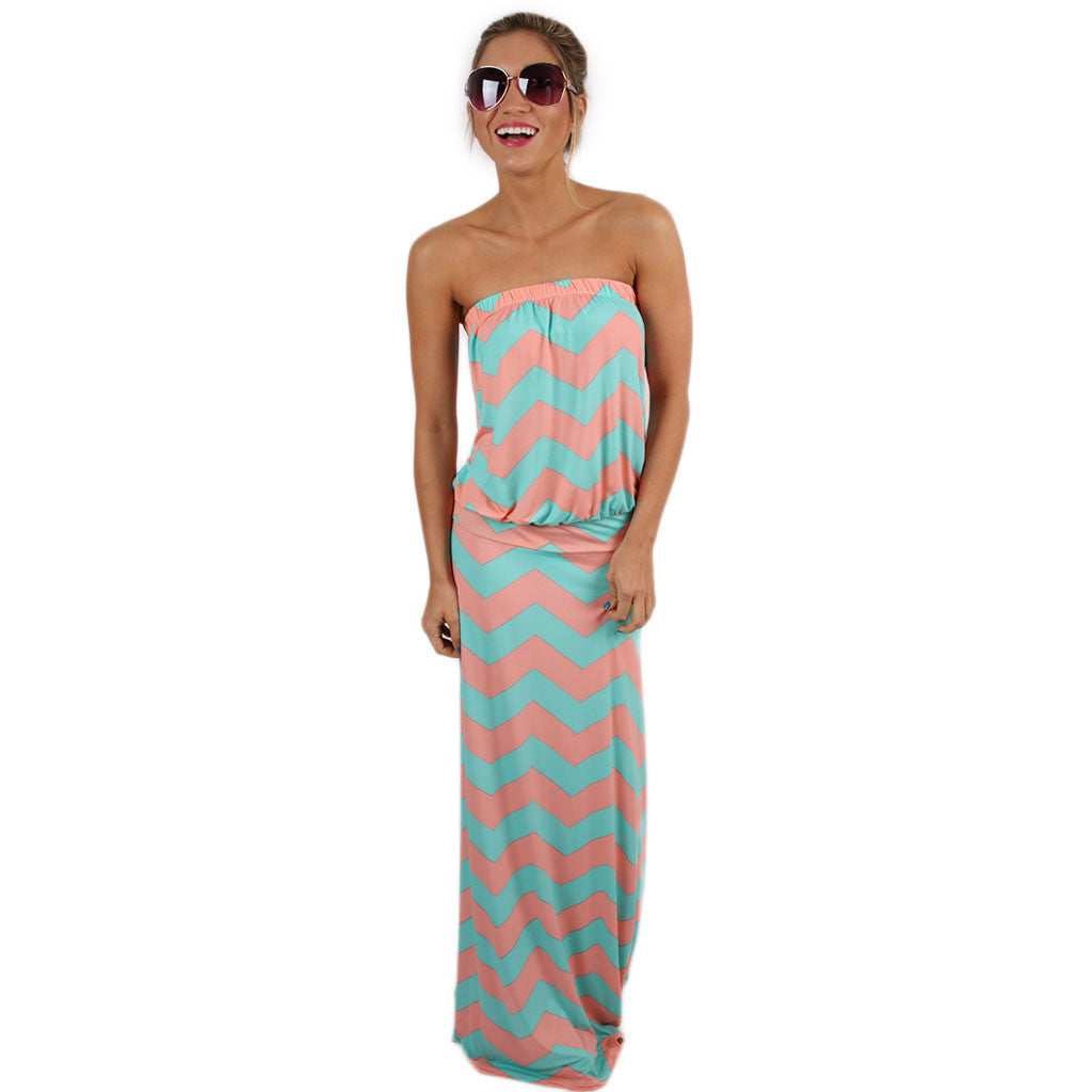 Sunshine Stripes Maxi in Pink & Mint