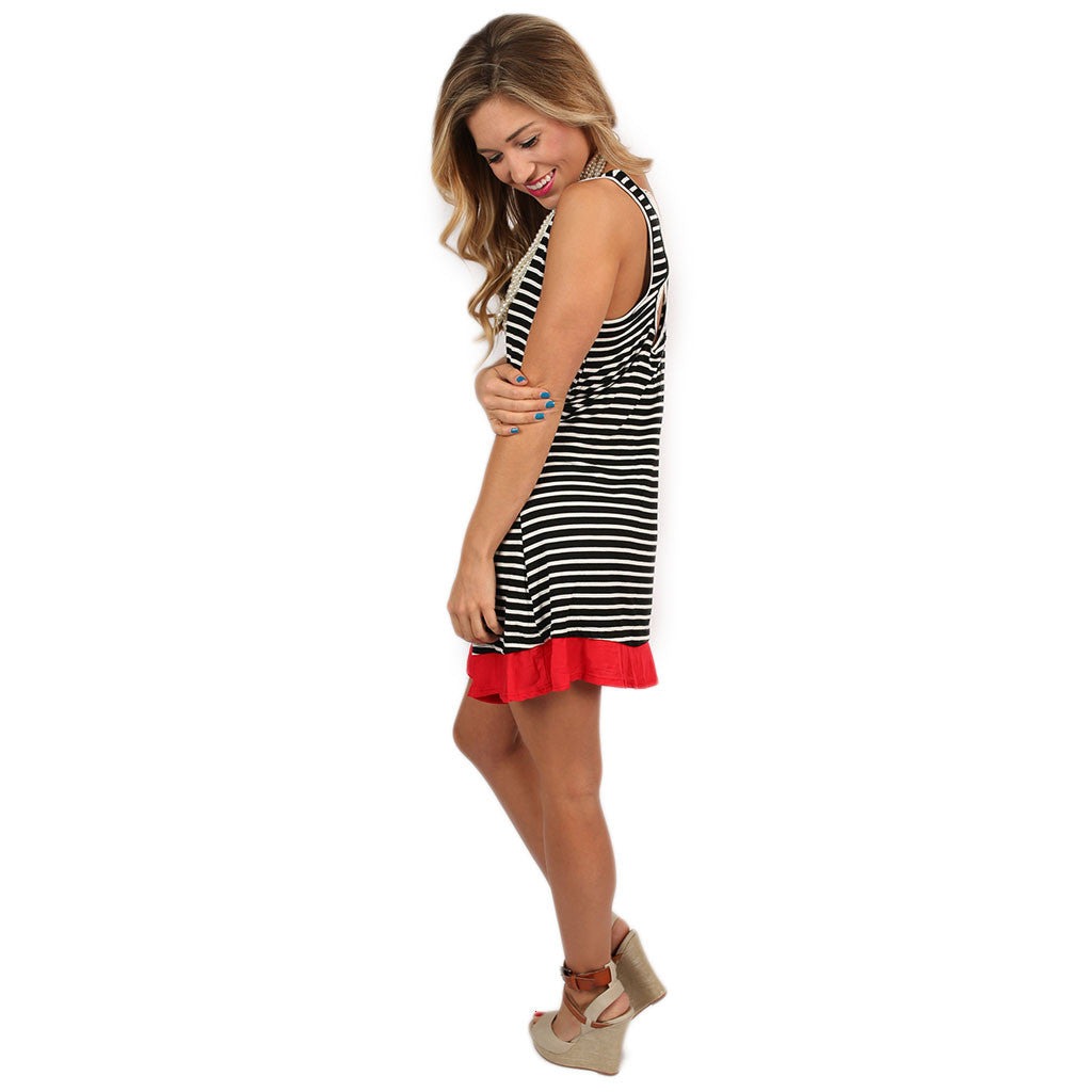 Smiles & Stripes Tunic Red