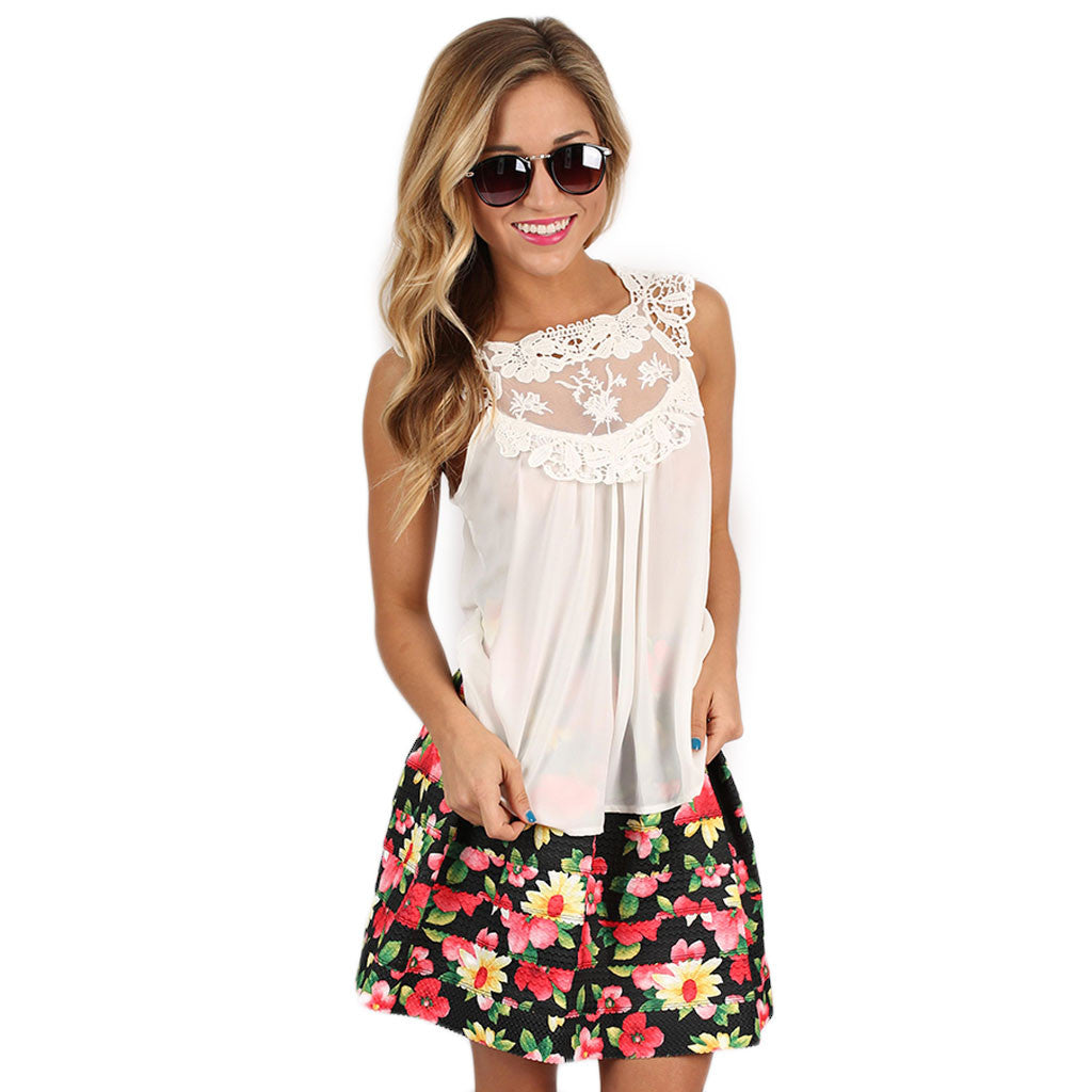 Hopeless Romantic Top in White