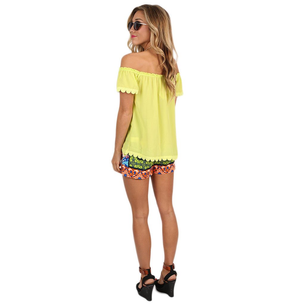Southern Sweetheart Top in Yellow