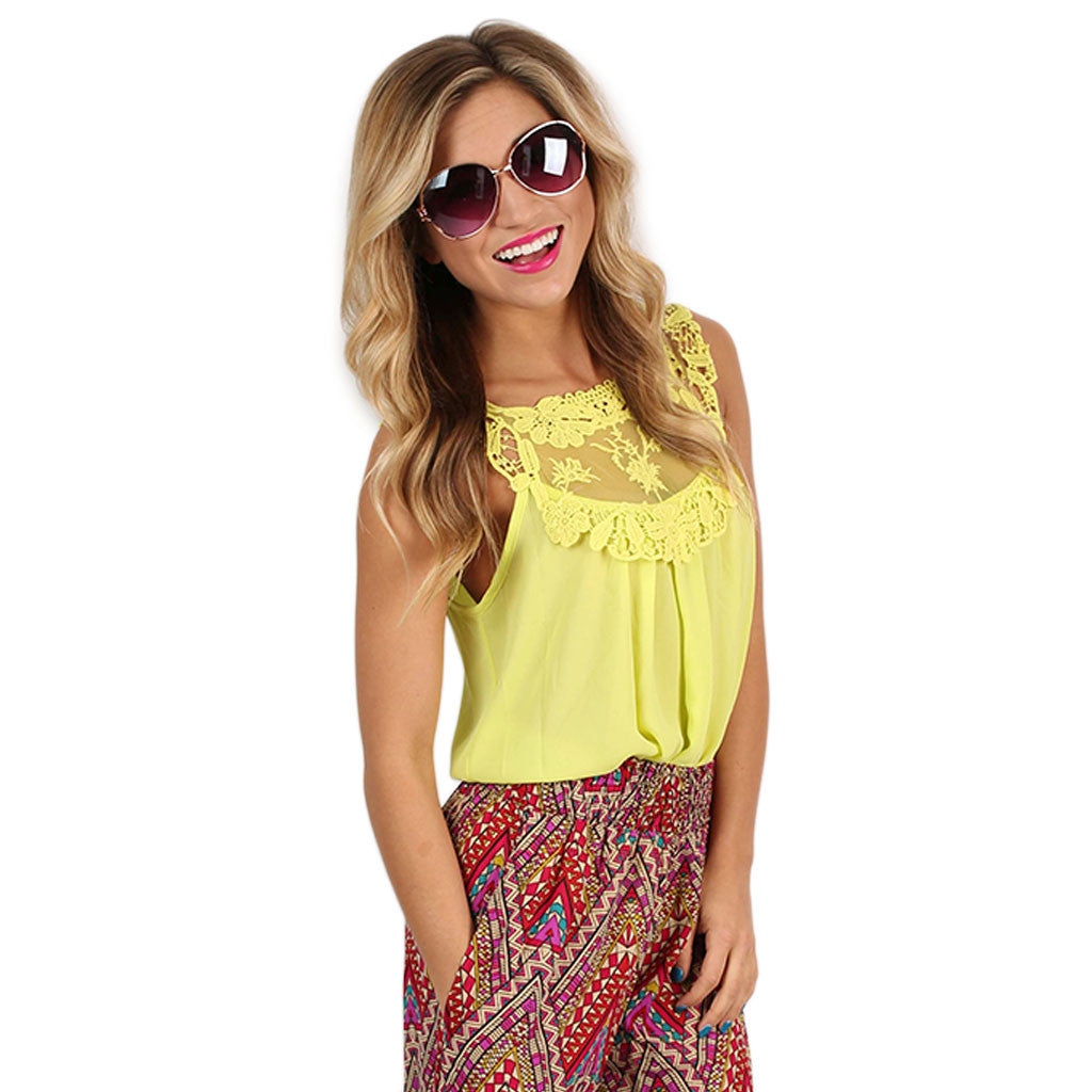 Hopeless Romantic Top in Yellow
