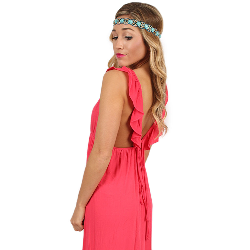 Livin' On Island Time Maxi in Coral